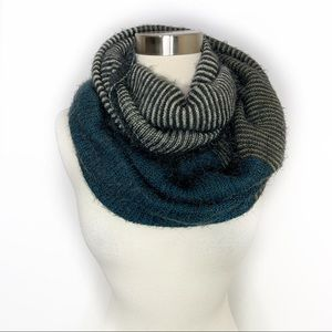 Look by M Neva Colorblock Striped Infinity Scarf